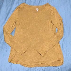 Gap Long Sleeve Luxe Shirt